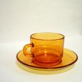 tw0288フランス製VERECOガラスカップ&ソーサー*amber designビンテージ北欧中古家具アンティーク雑貨通販アンバーデザイン