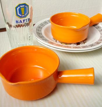 tw0096 オレンジ色のソースカップ2個セット