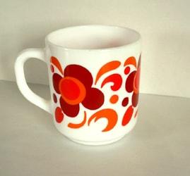 ビンテージ マグカップ赤