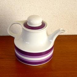 ビンテージ陶器ティーポット ボーダー