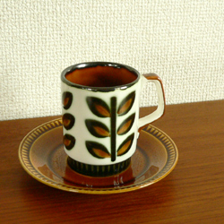 tw0249ベルギーBOCH Rambouilletカップ&ソーサー*amber design*北欧家具やビンテージ雑貨等のインテリア通販