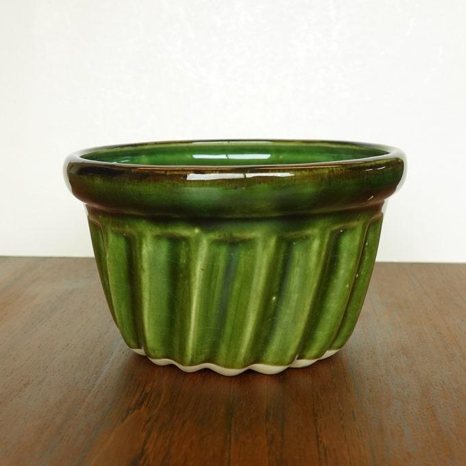 ヴィンテージ陶器ボウル プリン型