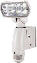 【数量限定】防滴仕様!センサーライト付防犯カメラマ MT-SL01(30万画素)モーションセンサー内蔵 2種類のアラーム マザーツール 在庫限り