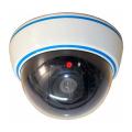 【DS-1500B】LED点滅・天井取付タイプ ドーム型ダミーカメラ 単3電池3本使用『防犯カメラ設置シール』付き マザーツール