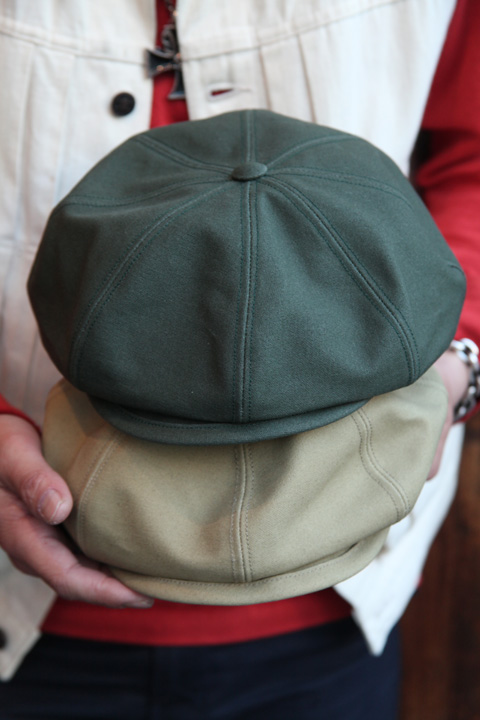 TROPHY CLOTHING/トロフィークロージング  「Oiled Duck Newsboy Cap」  キャスケット