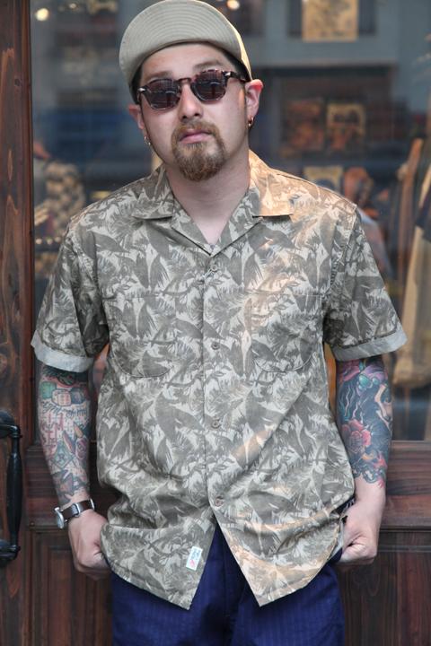 TROPHY CLOTHING/トロフィークロージング  「Sun Rise Leaf Shirts」  サンライズリーフシャツ