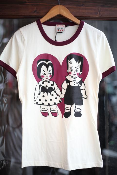 Miss Ladybug/ミスレディーバグ  「VAMPY & FRANKEY - RINGER T-SHIRTS」 リンガーティーシャツ