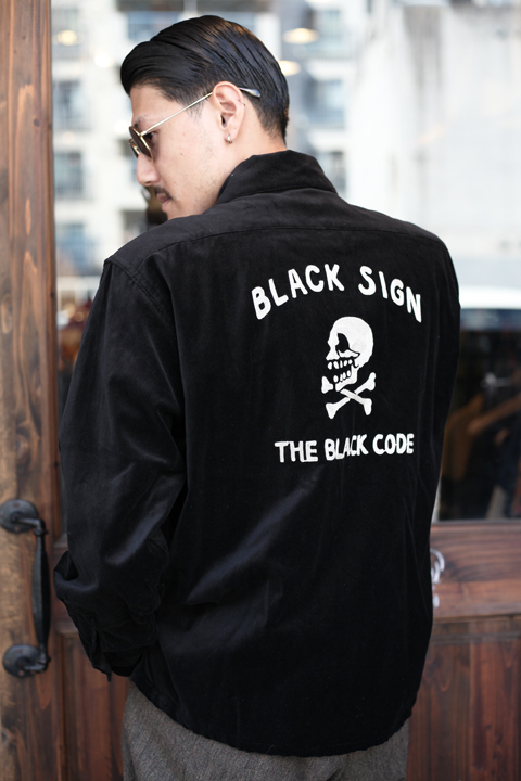 BLACK SIGN/ブラックサイン  「Velvet Gangster Shirt」  ベルベットギャングスターシャツ