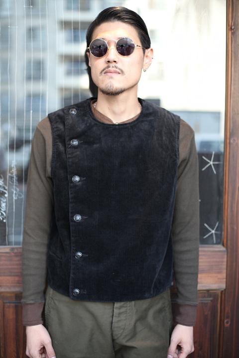 BLACK SIGN/ブラックサイン  「8W Corduroy Swindler Vest」  コーデユロイスウィンドラーベスト
