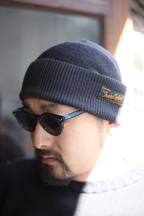 TROPHY CLOTHING/トロフィークロージング  「Guernsey Knit Cap」 フィッシャーマンキャップ