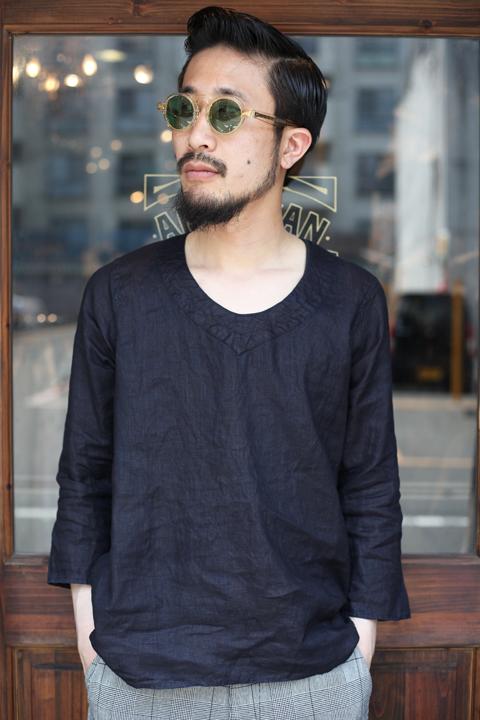 BLACK SIGN/ブラックサイン  「Black Indigo Pull Over Shirt」  プルオーバーシャツ
