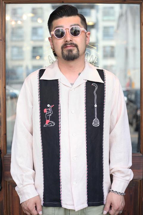 NORTH NO NAME/ノースノーネーム  「SNAKE CHARMER SHIRT」 オープンカラーシャツ