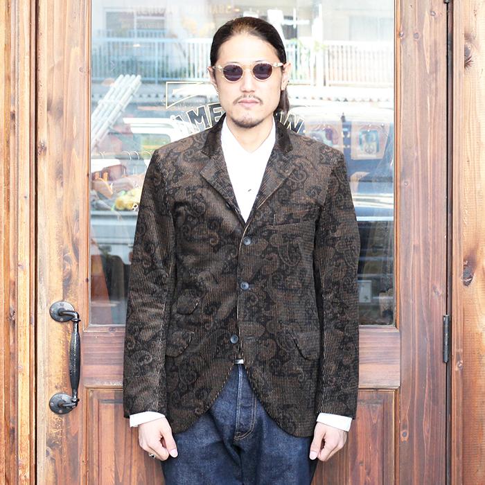 BLACK SIGN/ブラックサイン 「Paisley Cord Butler Jacket」 ペイズリーコーデュロイテーラードジャケット