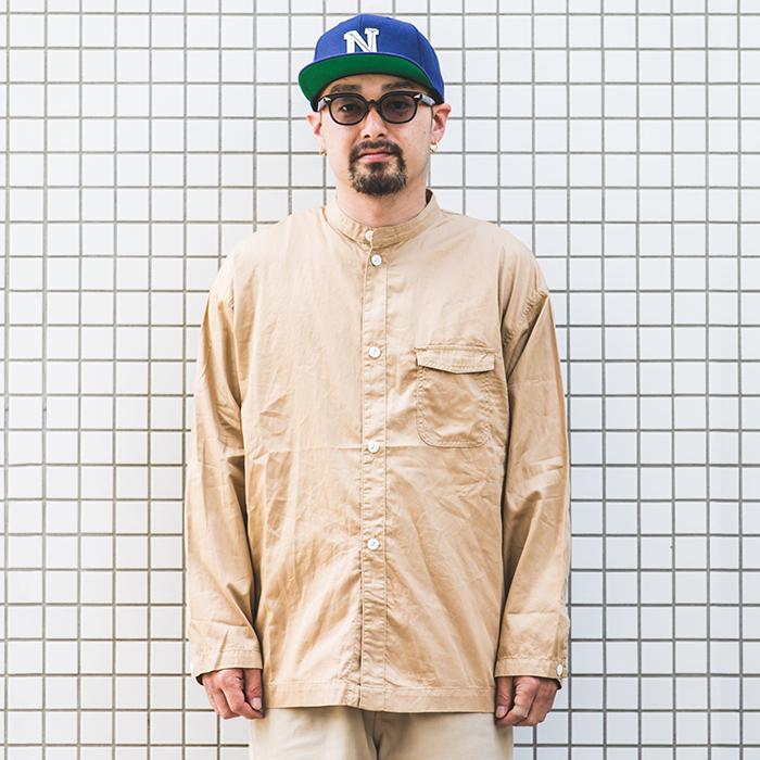 NASTOYS / ナストイズ  「 Band Collar Over Shirt 」   バンドカラーオーバーシャツ