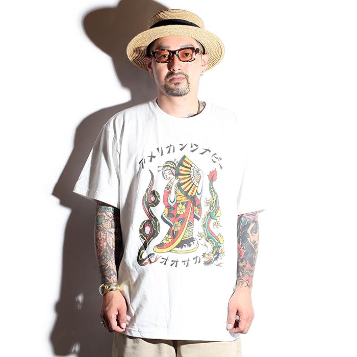 AMERICAN WANNABE/アメリカンワナビー  「 10th Japanese Girl  S/S TEE 」 10周年記念デザイン S/S Tシャツ