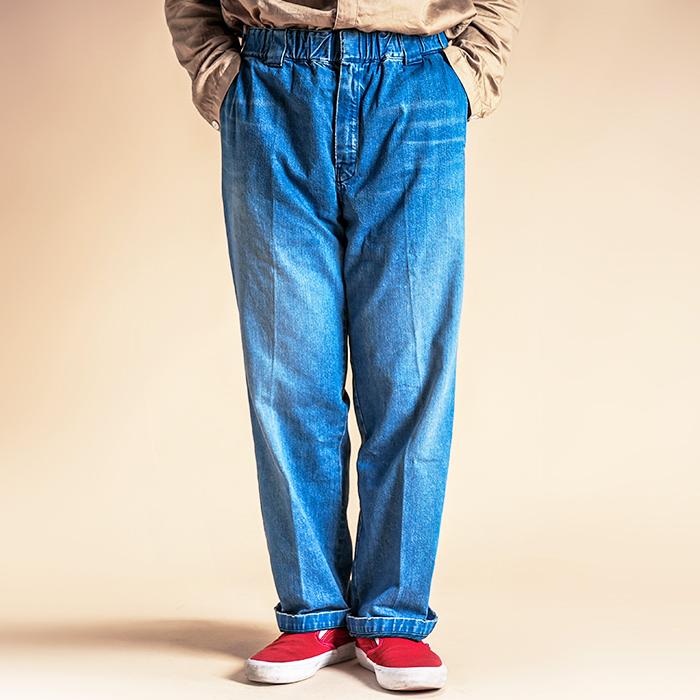 Sugar&Co.× NasToys  「 Daddy's Pants - Vintage Wash 」 ダメージデニムトラウザース
