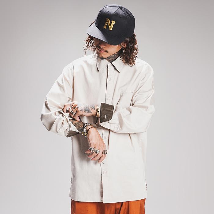 NASTOYS / ナストイズ  「Cotton Satin Long Sleeves Shirts 」   コットンサテンロングスリーブシャツ