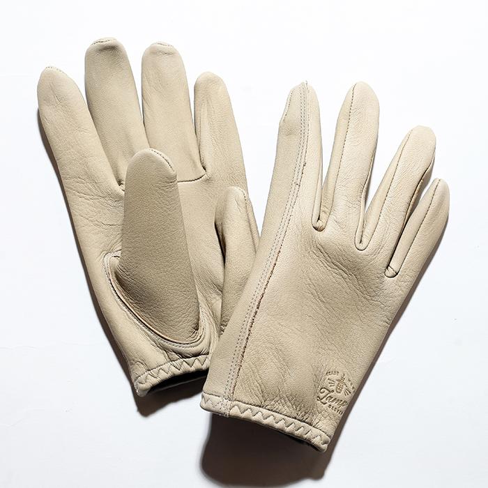 "Lamp gloves/ランプグローブス  「Deer Utility glove shorty ""Greige""」  ショートレザ-グローブ"