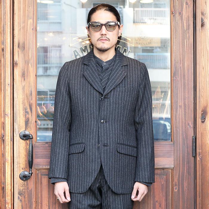 GANGSTERVILLE/ギャングスタービル 「MANHATTAN CLUB - JACKET」 杢糸ウールテーラードジャケット