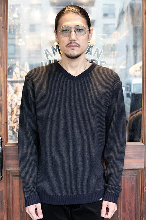 GANGSTERVILLE/ギャングスタービル 「 STRIPE - V NECK SWEATER 」 Vネックセーター