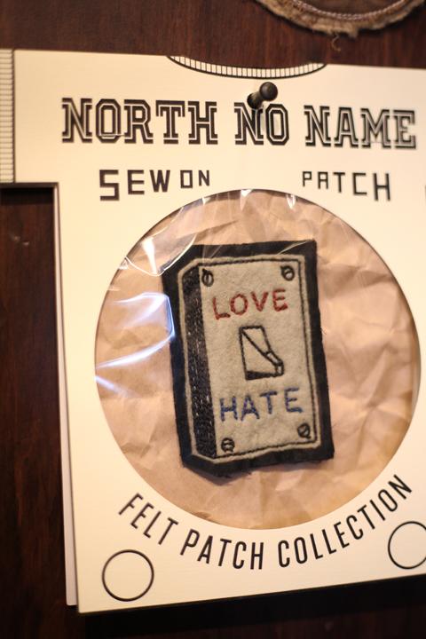 NORTH NO NAME/ノースノーネーム   「HAND MADE FELT- PATCH 」   ハンドメイドフェルトワッペンサイズS