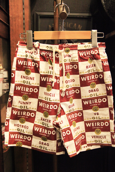 WEIRDO/ウィアード   「WRD CANS - Kids SHORTS」  オリジナル総柄コットンショーツキッズサイズ