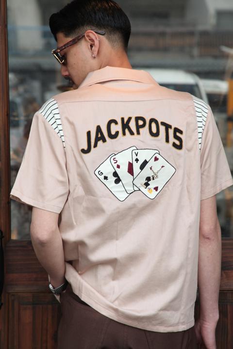 GANGSTERVILLE/ギャングスタービル   「JACKPOTS - S/S BOWLING SHIRTS」  ボーリングシャツ