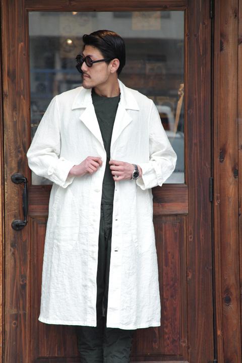 BLACK SIGN/ブラックサイン  「Linen Weather Atelier Coat」 リネンアトリエコート