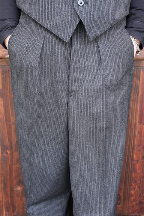 BLACK SIGN/ブラックサイン   「1930s Summer Wool Fog Stripe Dress Trousers」  サマーウールトラウザース