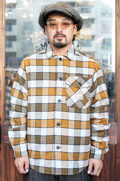 WEIRDO/ウィアード 「 TIGER ROD - L/S QUILTING CHECK SHIRTS 」  L/S キルティングチェックシャツ