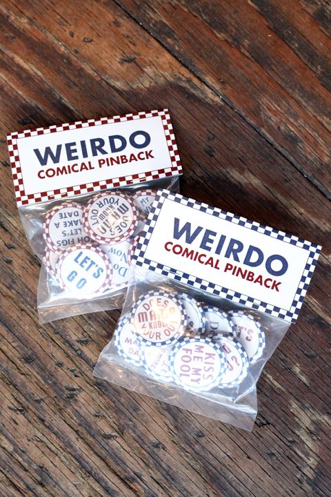 WEIRDO/ウィアード  「COMICAL PINBACK - PIN BACK」 オリジナルピンバッジ