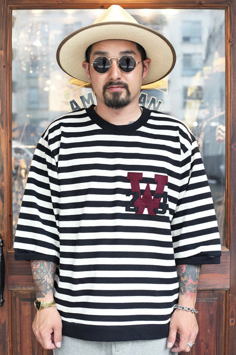 WEIRDO/ウィアード   「RINGING CLOWN -  H/S CREW NECK」   ボーダーカットソー