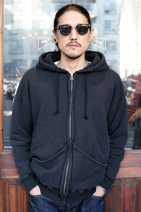 GANGSTERVILLE/ギャングスタービル 「PANTHER PISS - DOUBLE FACE SWEAT ZIP UP HOODIE 」  ダブルフェイスジップアップパーカー