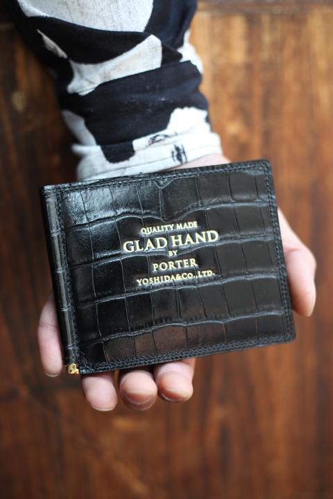 PORTER×GLAD HAND/ポーター×グラッドハンド  「GH - BELONGING MONEY CLIP」  レザーマネークリップ