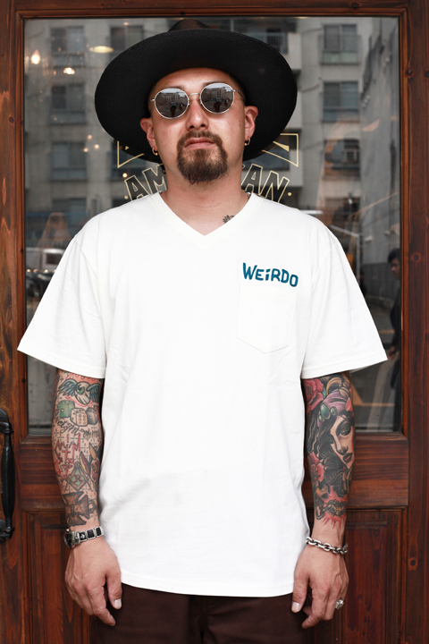 WEIRDO/ウィアード   「WEIRDO DAILY - S/S V-NECK T-SHIRTS」   Vネックティーシャツ
