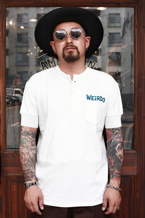 WEIRDO/ウィアード   「WEIRDO DAILY - S/S HENRY NECK T-SHIRTS」   ヘンリーネックティーシャツ