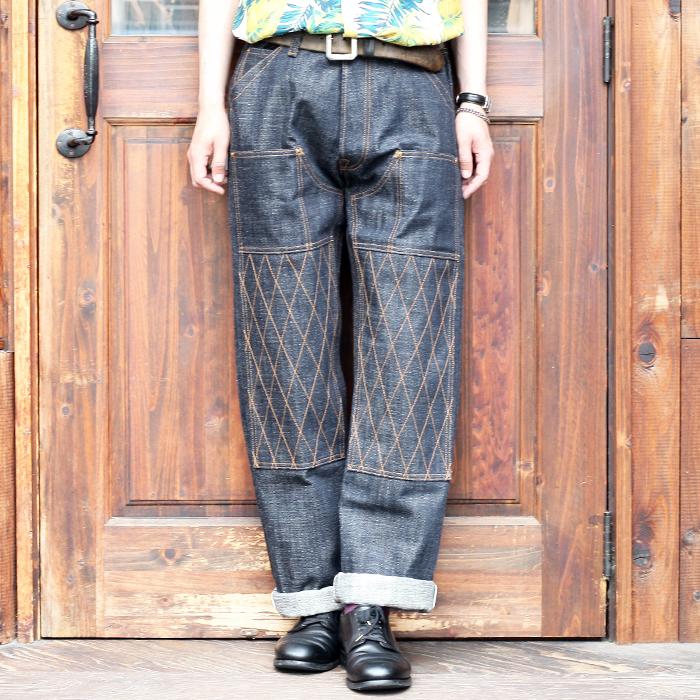 TROPHY CLOTHING/トロフィークロージング  「 15th Anniversary 1606W Knee STD Dirt Denim 」  15thダブルニースタンダードダートデニム