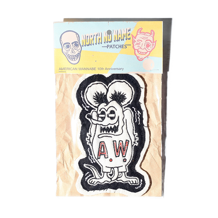 NORTH NO NAME×AMERICAN WANNABE「 Special FELT- PATCH 」ハンドメイドフェルトワッペン
