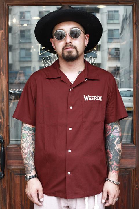 WEIRDO/ウィアード   「MONSTERS - S/S SHIRTS」   コットンS/Sシャツ