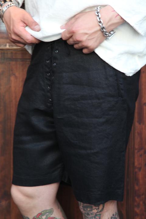 BLACK SIGN/ブラックサイン   「Linen Twill Athletic Shorts」  アスレチックショーツ