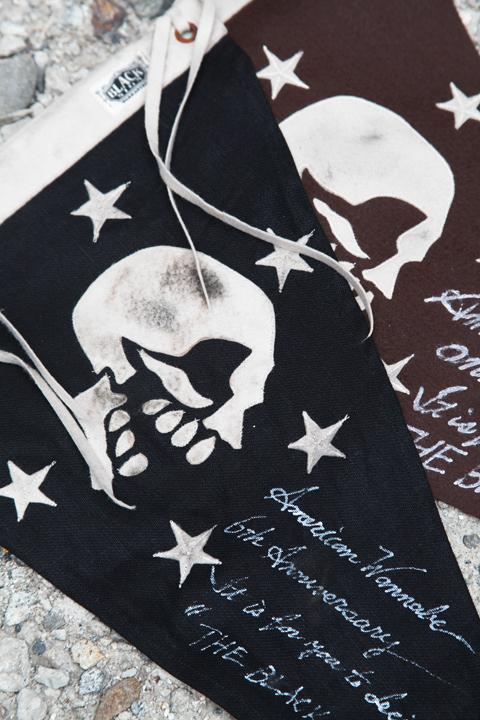 BLACK SIGN×AMERICAN WANNABE  「Black Linen Skull Flag」  スペシャルペナント