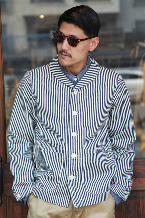 TROPHY CLOTHING/トロフィークロージング  「USN Proto Coverall」  ヒッコリーカバーオール