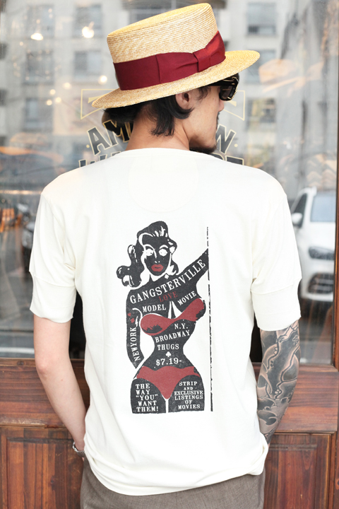 GANGSTERVILLE/ギャングスタービル  「WANT LOVE - S/S HENRY T-SHRITS」  ヘンリーネックS/S TEE