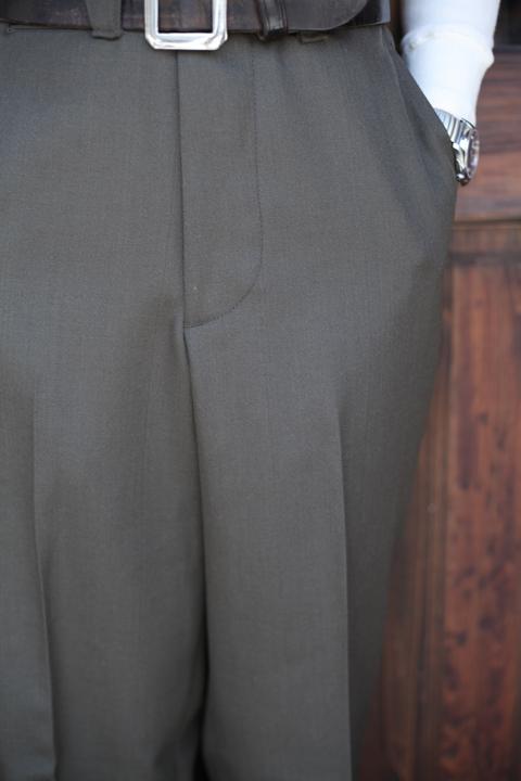 BLACK SIGN/ブラックサイン   「Officer Dress Trousers」  ウールトラウザーズ