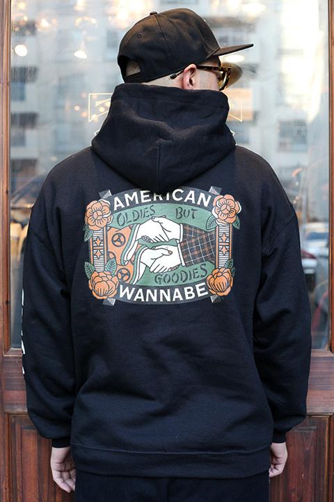 "AMERICAN WANNABE/アメリカンワナビー  「 ""OLDIES  BUT GOODIES "" 8oz  SWEAT PARKA 」 スウェットパーカー"