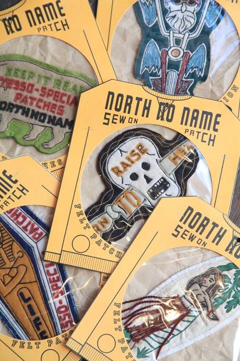 NORTH NO NAME/ノースノーネーム   「HAND MADE FELT- PATCH 」   ハンドメイドフェルトワッペンサイズXL
