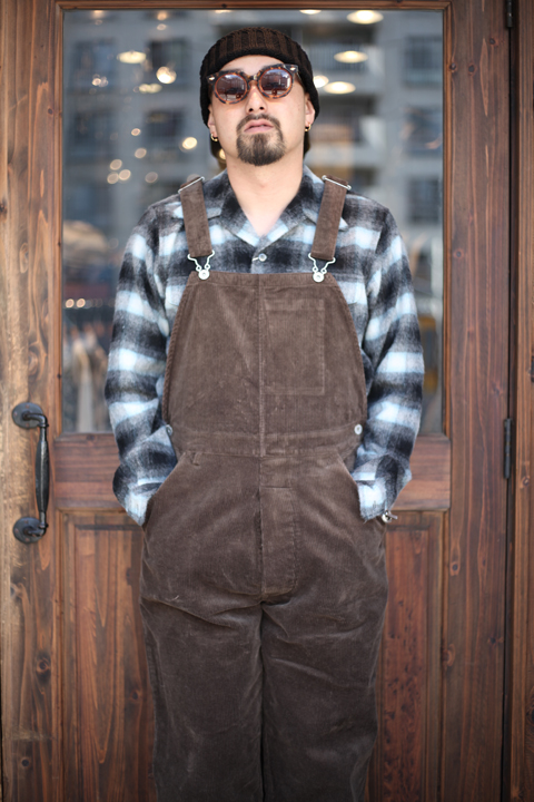TROPHY CLOTHING/トロフィークロージング  「Code Low Back」  コーデュロイオーバーオール