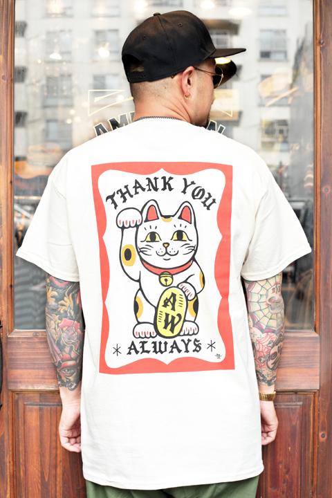 "AMERICAN WANNABE/アメリカンワナビー  「 ""THANK YOU ALWAYS""  S/S TEE 」  プリントS/Sティーシャツ"