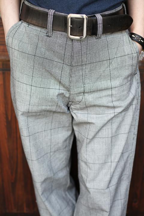 BLACK SIGN/ブラックサイン   「Vintage Glen Check Harbor Trousers」  グレンチェックトラウザース