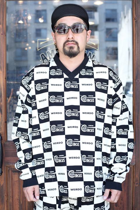 WEIRDO/ウィアード   「RINGING - PULLOVER」   チェッカーゲームシャツ